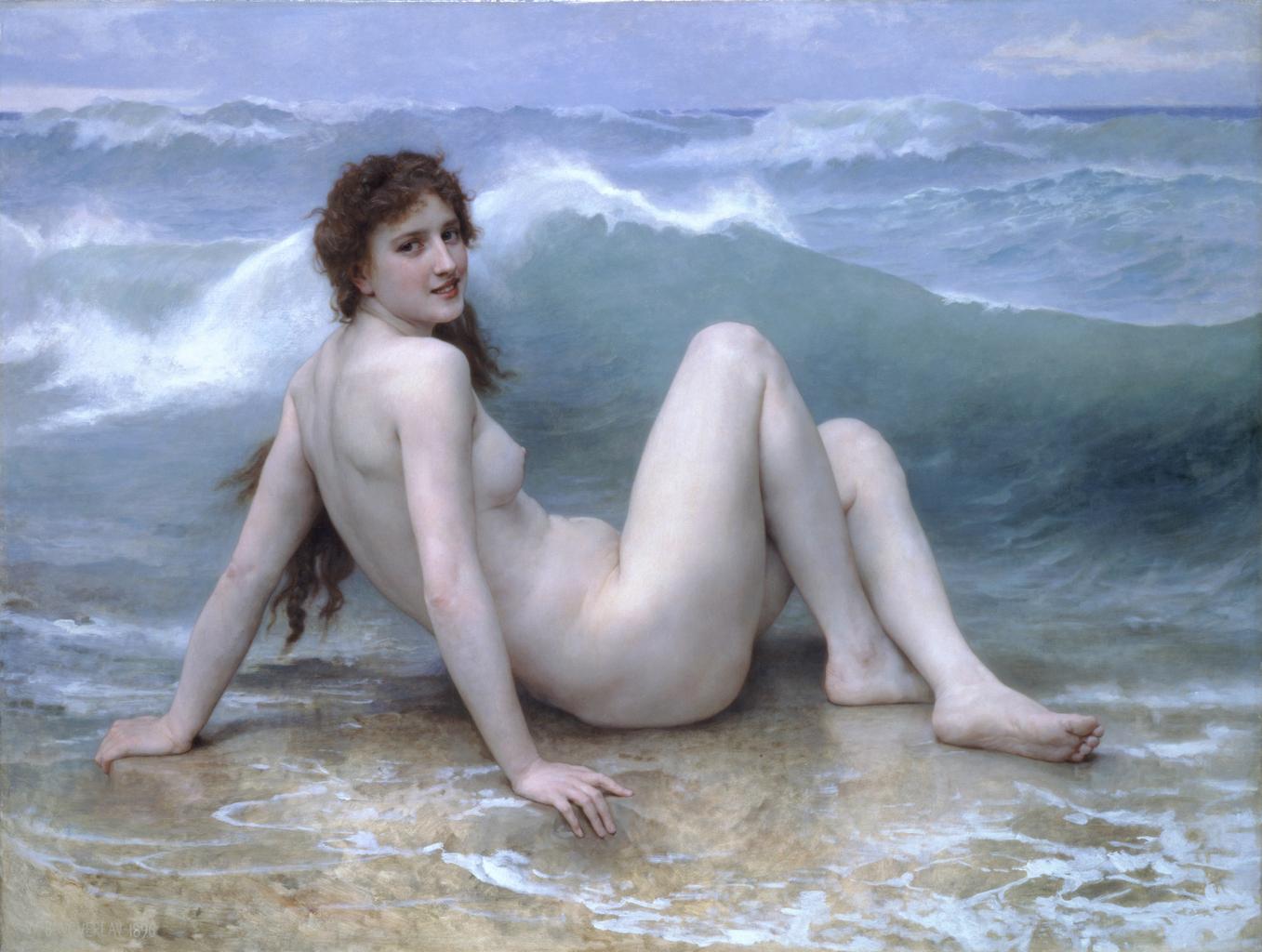 portrét nahej ženy